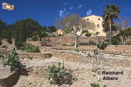 Capdepera Historische Burganlage, Mallorca, Balearen, Mittelmeer, Capdepera, Festung, Burg, Zinnen, Albers, Foto, foreal,